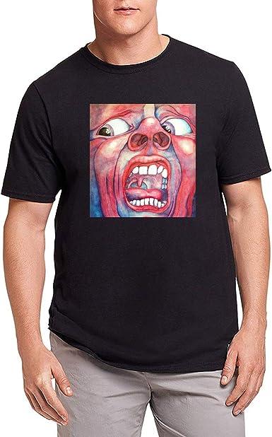 HAOSHUN Hombre King Crimson Fanart Camiseta T-Shirt tee Top Shirt Black