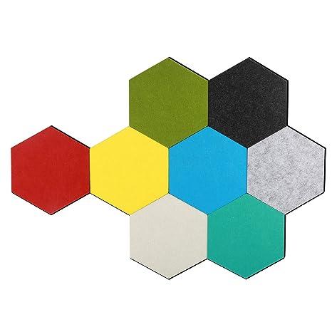 Amazon Com Ubilink Hexagon Cork Board Tiles 8 Pack With Magnetic