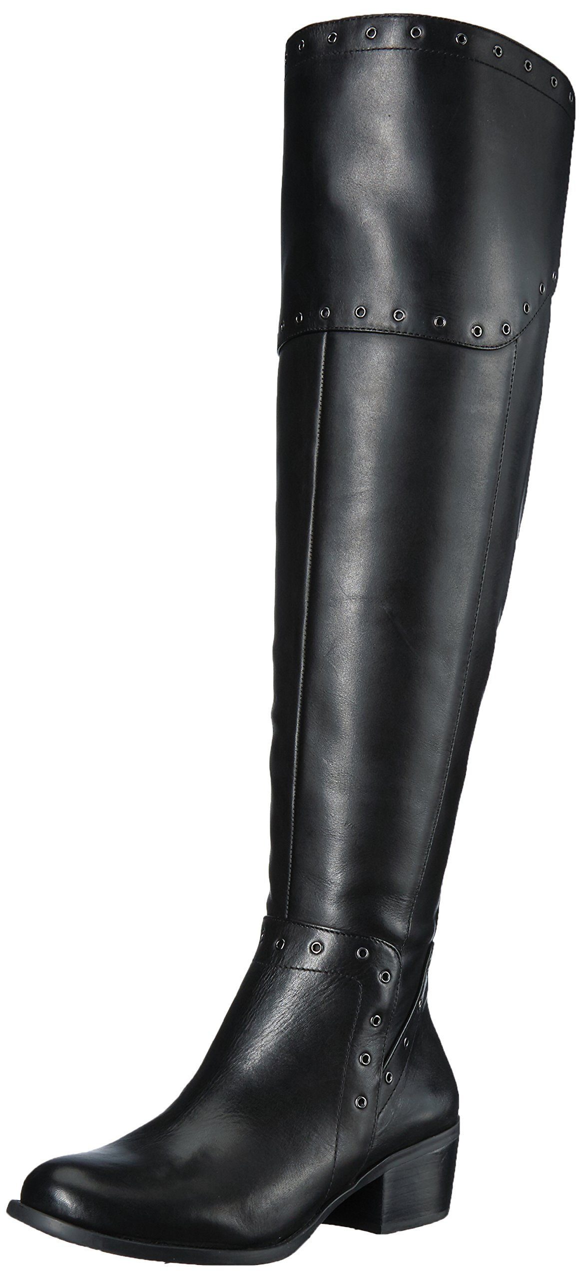 Vince Camuto Women's Bestan Over The Knee Boot, Black Wide Calf, 9 Medium US by Vince Camuto (Image #1)