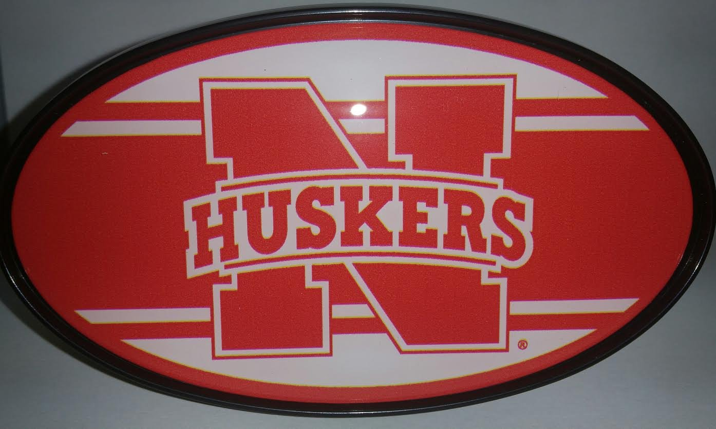 Great American Products NCAA Nebraska Cornhuskers Oval Hitch Cover One Size Black