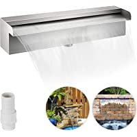 Patiolife Pool Fountain Stainless Steel Pool Waterfall 11.8″ x 4.5″ x 3.1″ (W x D x H) Waterfall Spillway Rectangular Garden Outdoor