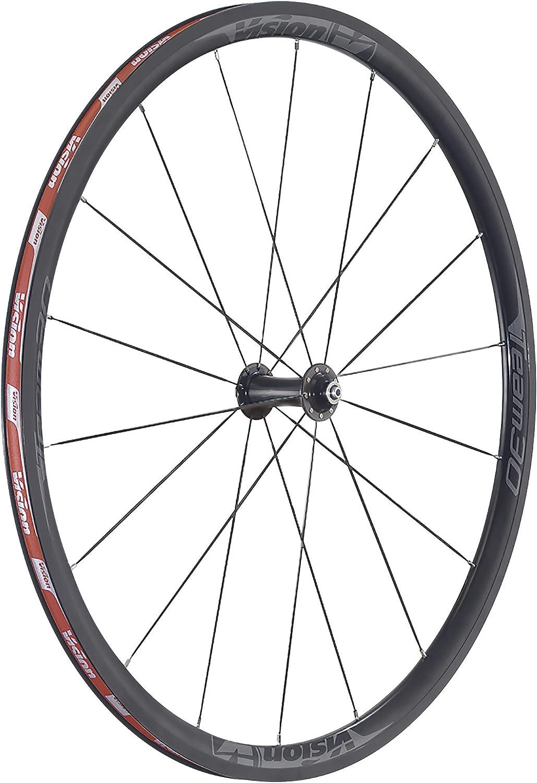 Vision Equipo 30SH11V15Juego de Ruedas–Negro/Gris, 700C