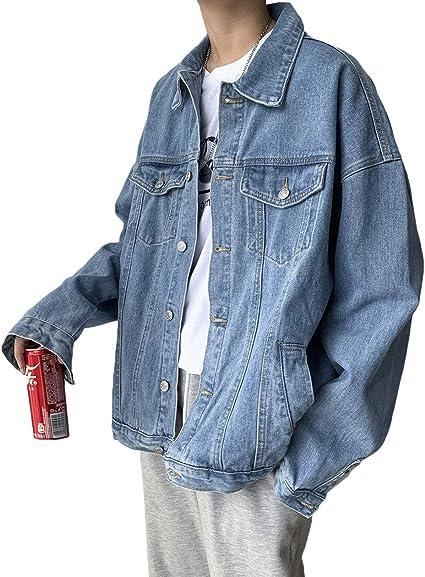 [DMbinshun]デニムジャケット メンズ 長袖 ジージャン ゆったり ジャケット カジュアル デニム ストリート系 アウター おしゃれ 大きいサイズ 秋
