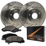 [Front] Rotors w/Ceramic Pads Premium Brakes (2009-2013 Corolla Matrix XD)