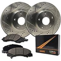 Tovasty Front and Rear Brake Kit Premium Disc Brake Rotors /& Ceramic Pads /& Hardware Clips /& Brake Cleaner /& Gloves for 02 2002 03 2003 04 2004 05 2005 06 2006 Nissan Altima BK71013080101