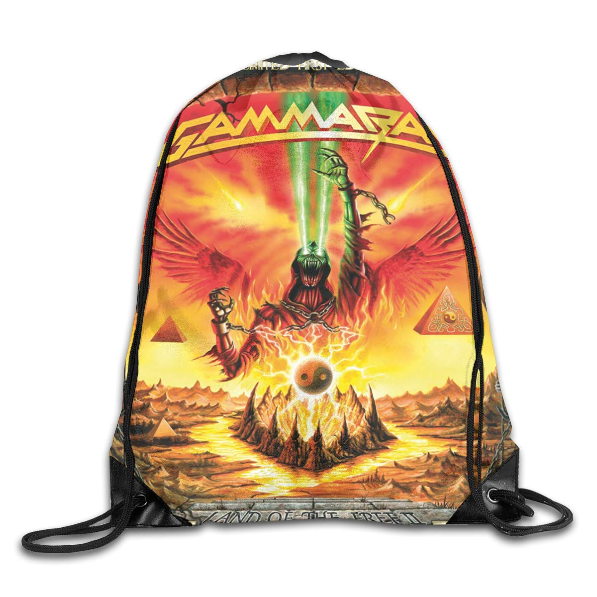 CAOI UUC Gamma Ray Land Of The Free Gym Drawstring Backpack Shoulder Bags