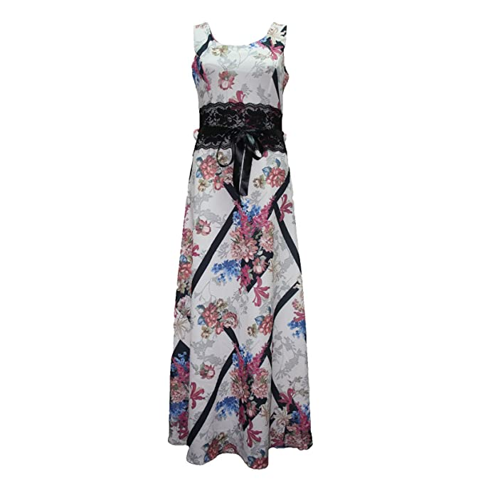 c5206177631d Ladies New Evening Party Skirt Womens Summer Long Maxi Dress Size 8-14:  Amazon.co.uk: Clothing