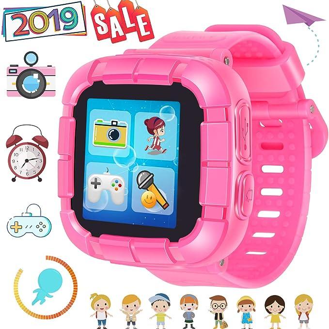 Juego Niños Smart Watch para Niñas Niños Regalos de Pascua con Cámara 1.5 Touch 10 Juegos Podómetro Reloj despertador Reloj Smartwatch Reloj de pulsera ...