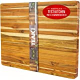 TEAKHAUS Wood Cutting Board Block I Chopping Board I Wooden Cutting Boards for Kitchen I Large Cutting Board with Handle I Ch