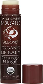 product image for DR BRONNERS Organic Orange Ginger Lip Balm, 0.15 OZ