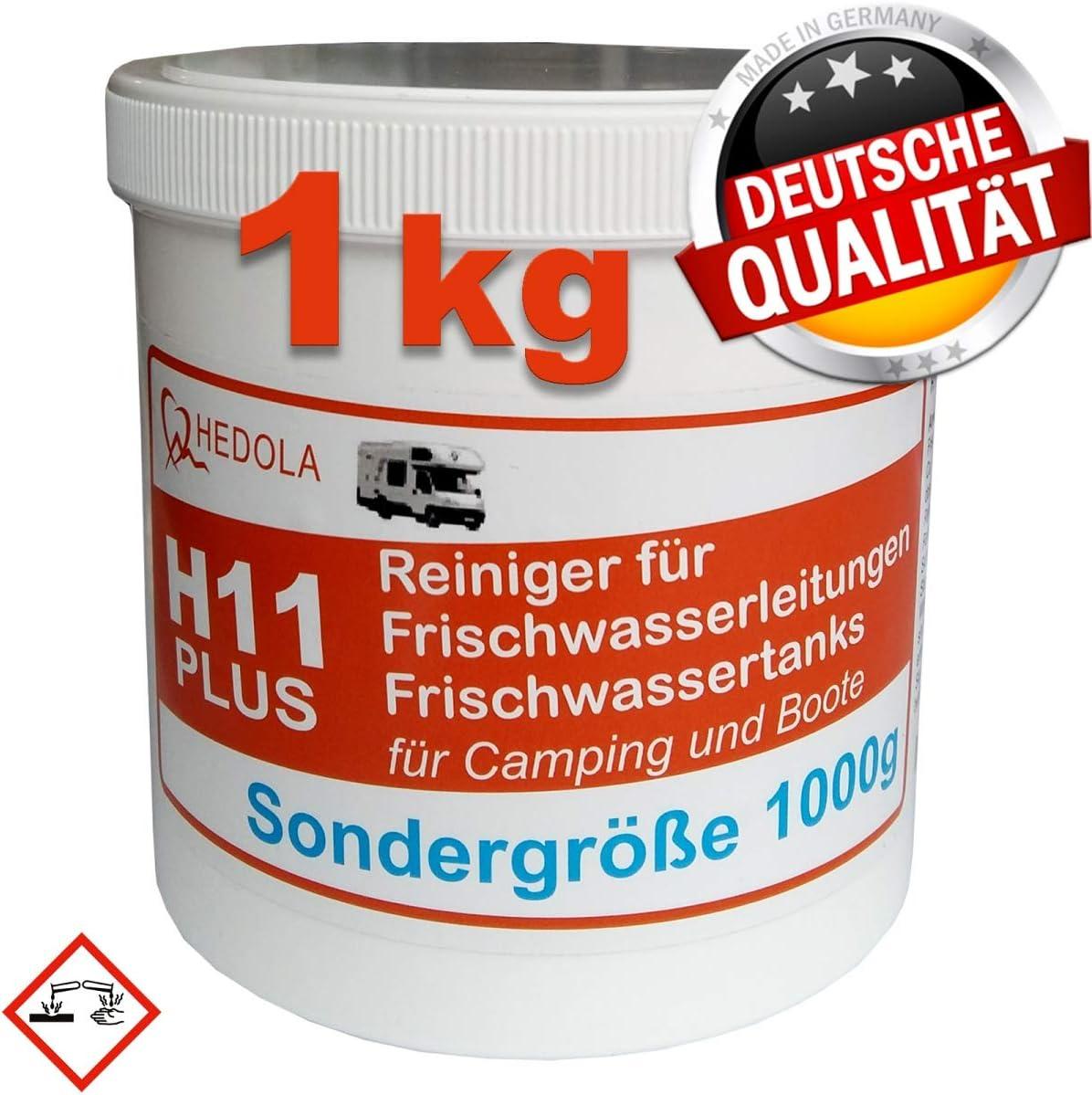 Frisch Wasser Tankreiniger H11 Plus 1000g Für Wohnmobil Wohnwagen Boot Sondergröße 1kg Auto