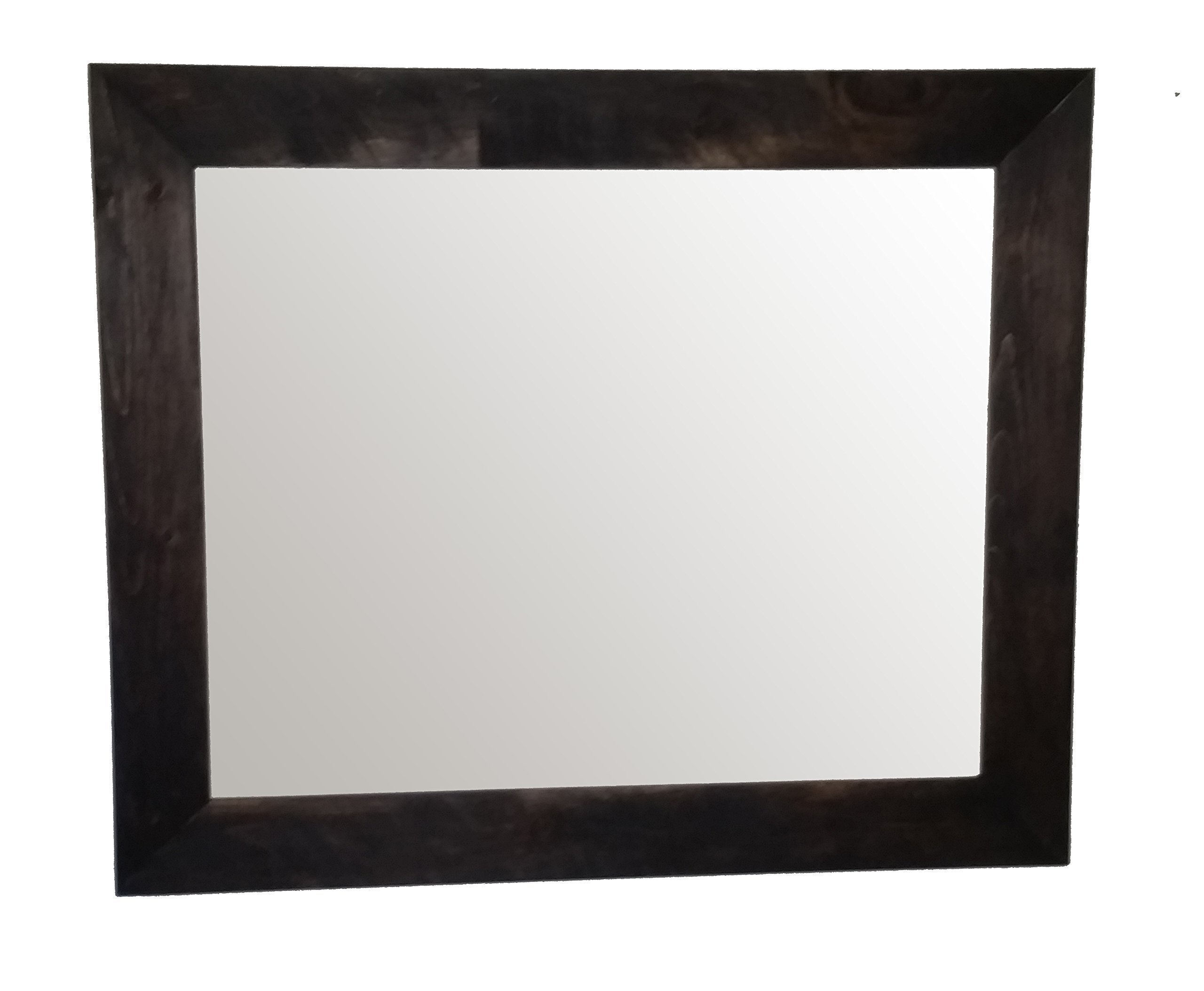 Shiplap Mirror 36x30 Horizontal Jacobean Stain Reclaimed Wood Mirror - Large Wall Mirror - Rustic Modern Home - Home Decor - Mirror - Housewares - Woodwork - Frame - Stained Mirror by Renewed Decor