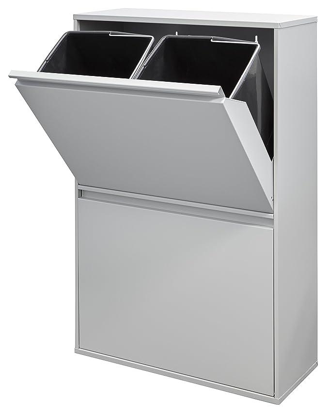 Arregui Basic Cubo de Reciclaje con 4 Cubetas, Metal, Blanco, 24.5x90.5x58.5 cm: Amazon.es: Hogar