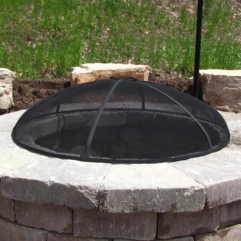 Amazing Fire Pit Spark Screens Part - 2: Amazon.com : Sunnydaze 30-Inch Diameter Fire Pit Spark Screen : Firepit  Screen : Garden U0026 Outdoor