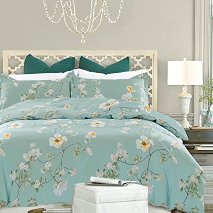 queen teal and contemporary sea iris home cotton product duvet lehnhardt sets design covers calm blue cover