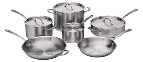 Amazon.com: Kitchara Juego de utensilios de cocina de acero ...