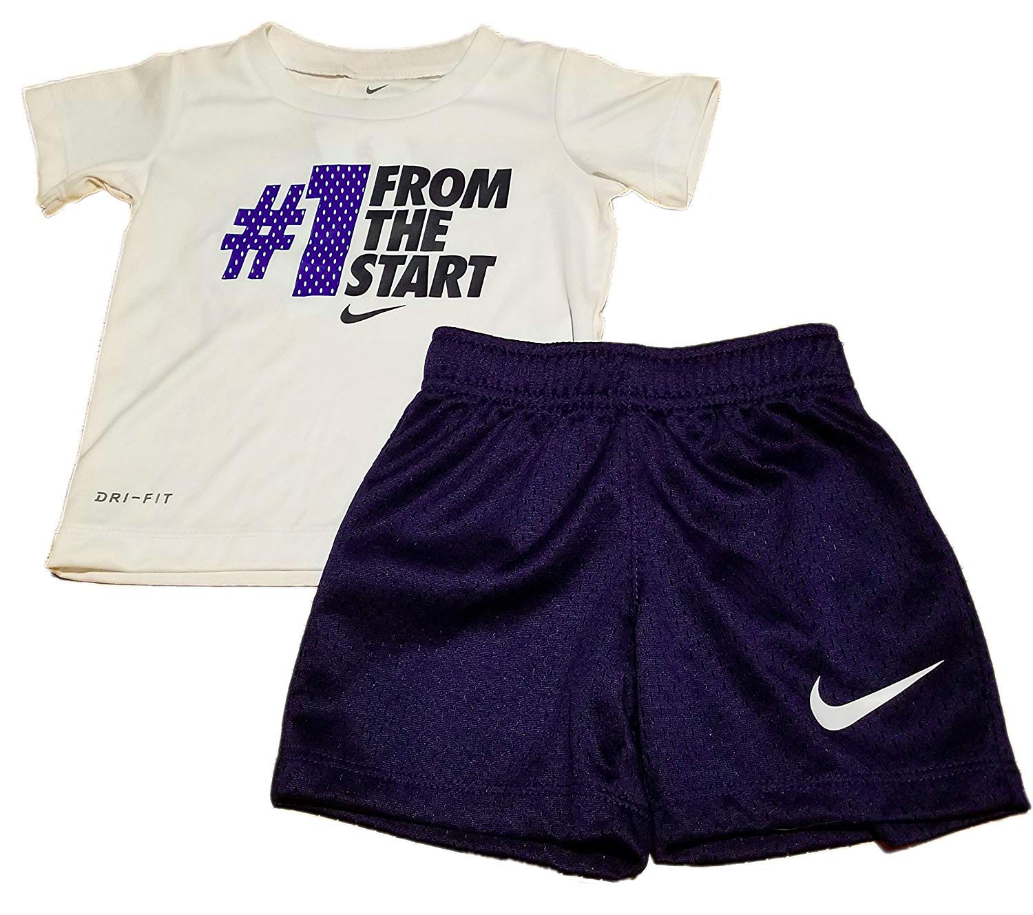 NIKE Baby Boy's Dri-Fit #1 From The Start 2-Piece Short Set, 12 Months, Binary Blue