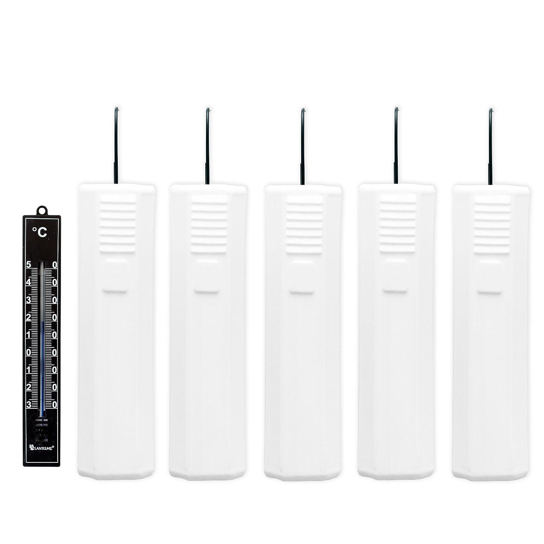 Lantelme 7034Juego 5Unidades humidificador para radiador Trapezoidal en V y Analógico Termómetro