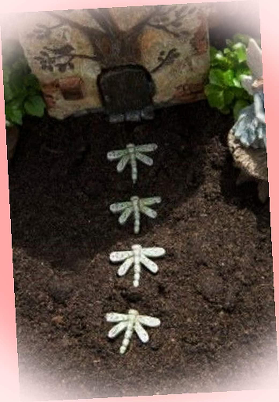 New Fairy Garden Miniature Dragonfly Stepping Stones Dollhouse Magic Scene Supplies Accessories MFa-#0287Ga