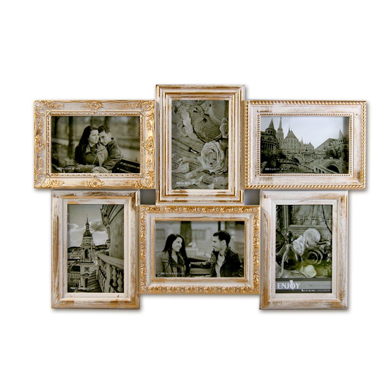 Amazon.de: 541 3D Bilderrahmen Collage 6 Fotos Fotogalerie Rahmen ...