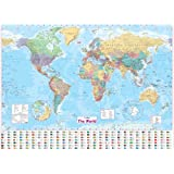 Collins the World: Paper Wall Map (World Map)