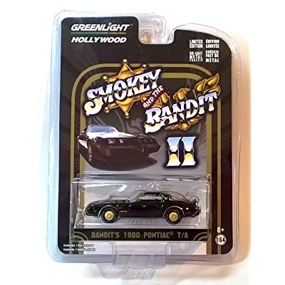 Greenlight 1:64 Hollywood Series Smokey and The Bandit II Bandit's 1980 Pontiac Trans Am Diecast Car: Toys & Games
