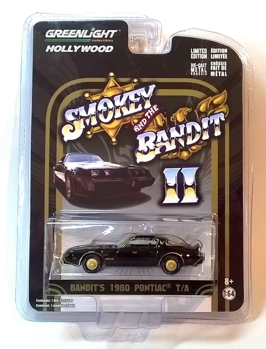 Greenlight Hollywood Smokey and the Bandit Pontiac 1977 T//A-modello di auto 1:64