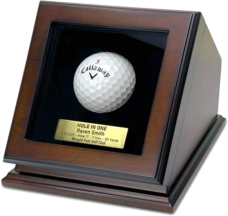 ChezMonett Hole in One Golf Ball Plaqu High material Display New life Custom - Box Case