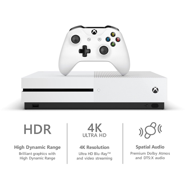 Amazon Com Microsoft Xbox One S 1tb Console White Discontinued Video Games