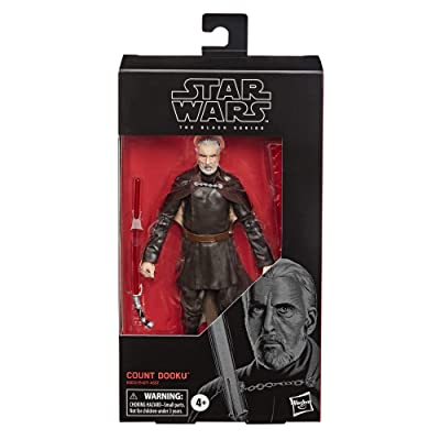"""Star Wars The Black Seriescount Dooku Toy 6"""" Scale Attack of The Clones Collectible Figure: Toys & Games"""