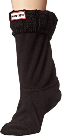 6216ceac1 Hunter Women's 6 Stitch Cable Boot Sock - Short at Amazon Women's ...