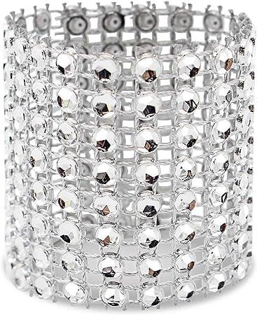 SODIAL servilletero, 120 Piezas de servilleta Anillo Diamante decoración, Adecuado para la colocación, recepción de Boda, Cena o Fiesta de Vacaciones, reunión Familiar: Amazon.es: Hogar