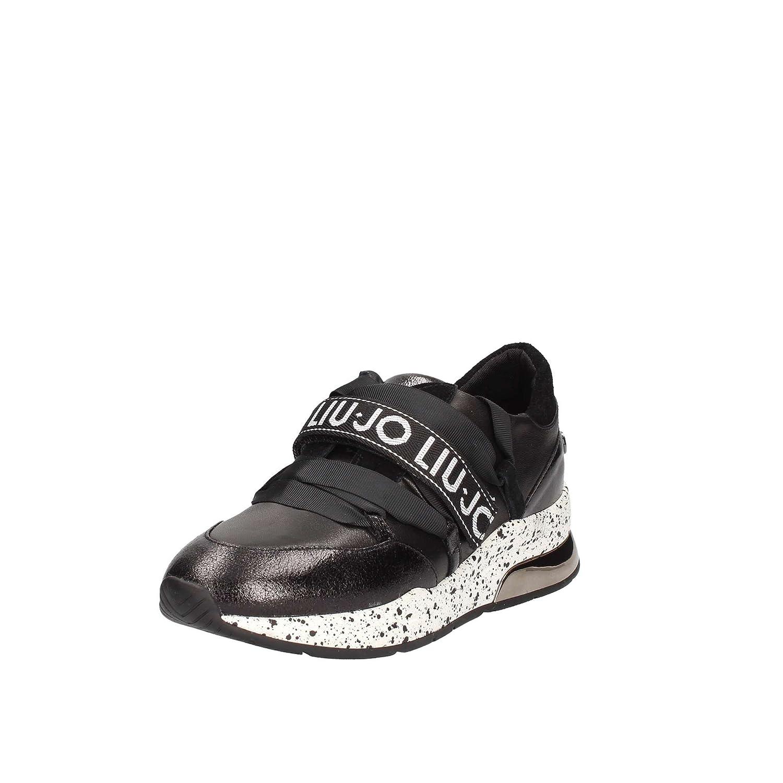 Amazon.com | Liu Jo Shoes Woman Low Sneakers B68001 PX001 Karlie 03 Sneaker Black Size 39 Black | Fashion Sneakers