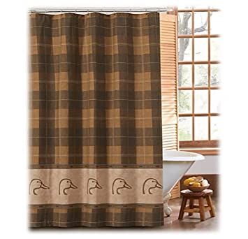 Image Unavailable Not Available For Color Ducks Unlimited Plaid Collection Shower Curtain