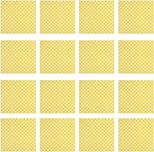 Cabilock 100pcs Checkered Deli Pizza Oil Paper Fried Food Basket Liner Grease- Proof Paper Wrappers for Picnic Sandwiches Hamburgers (Yellow)