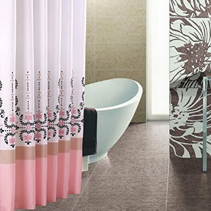 Extra Long Hookless Shower Curtain