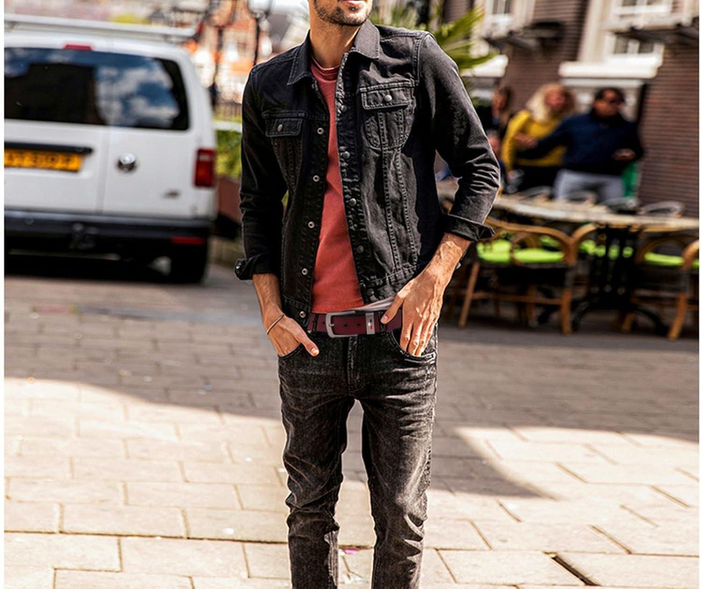 Habitaen Men Genuine Leather Belts Vintage Male Strap Jeans Leather Belts