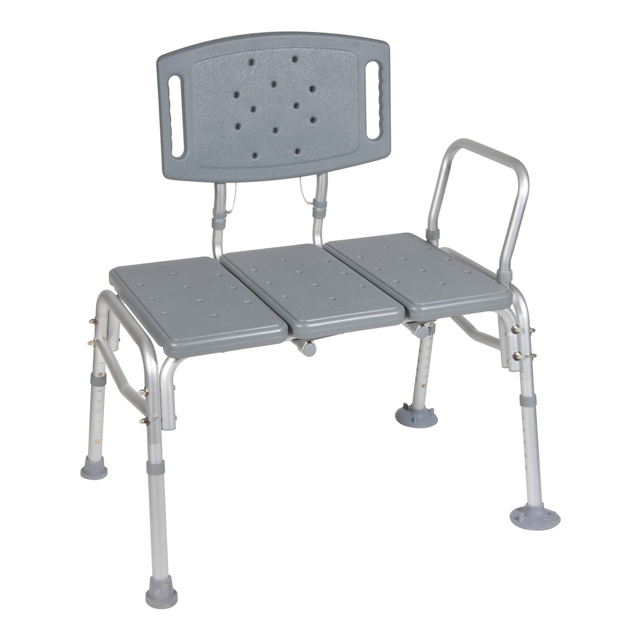 Drive Medical Heavy Duty Bariatric Plastic Seat Transfer Bench, Gray by Drive Medical