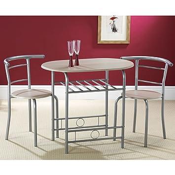 Esstisch Mit 2 Stühlen amazon de kompakte 80 cm esstisch mit 2 stühlen 2 stühle mit