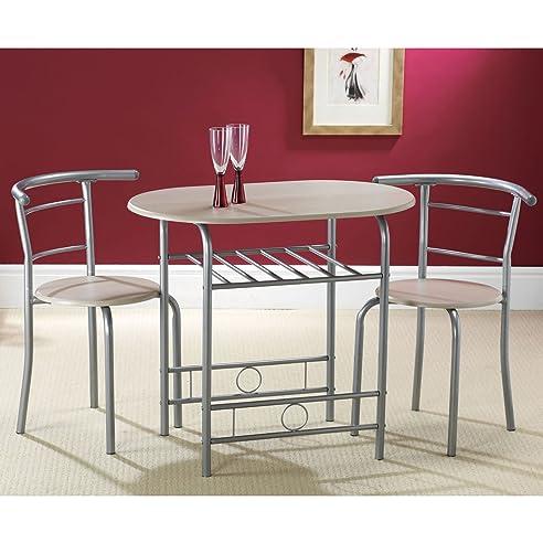 Amazon.de: Kompakte 80 cm Esstisch mit 2 Stühlen, 2 Stühle, mit ...