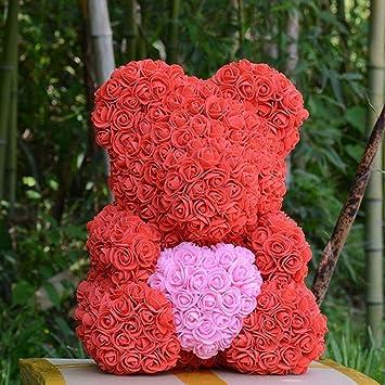 40f8b3391ba ANLW Saint Valentin Rose Ours Fleur Bulle Fleur éternel Cadeau de la Petite  Amie Anniversaire de