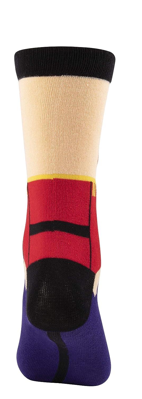 2-Pair Holiday Festive Design Crew Socks For Unisex Adults Christmas Socks