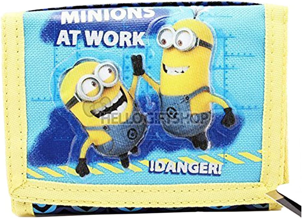 Despicable Me Minions At Work Boy /& Girls Tri-fold Wallet