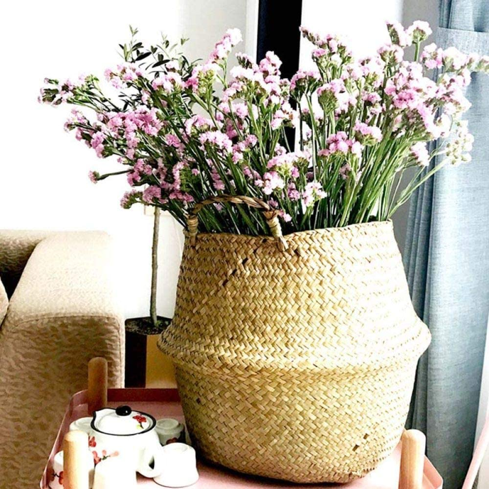 LGFSG Panier à Linge Panier en Osier rotin Suspendu Pot de Fleur Panier à Linge Sale Panier de Rangement, XL L