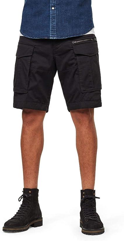TALLA 33W Regular. G-STAR RAW Rovic Zip Relaxed 1/2-length Shorts Pantalones Cortos para Hombre