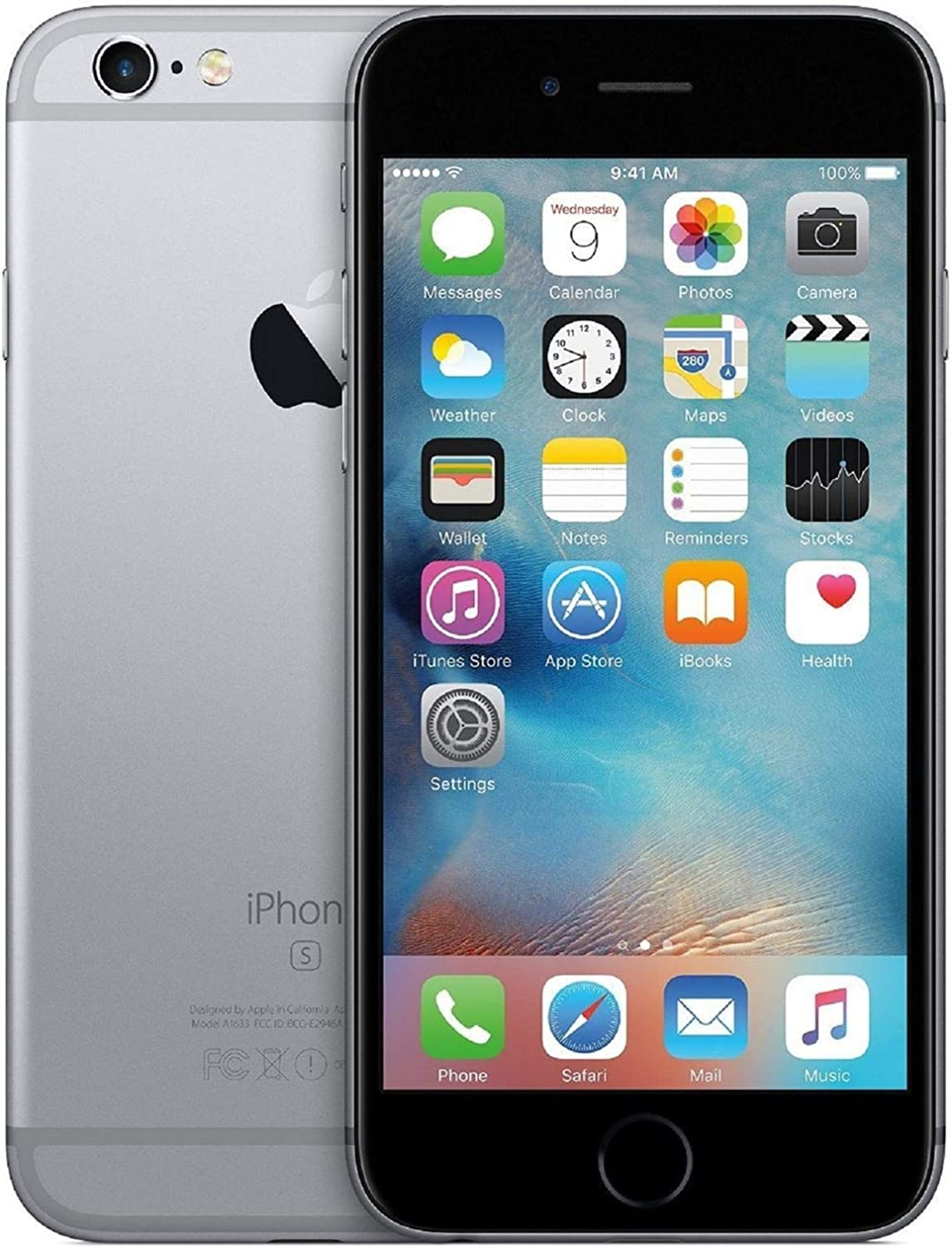 Apple iPhone 6s 64GB Space Grey Unlocked (Renewed)
