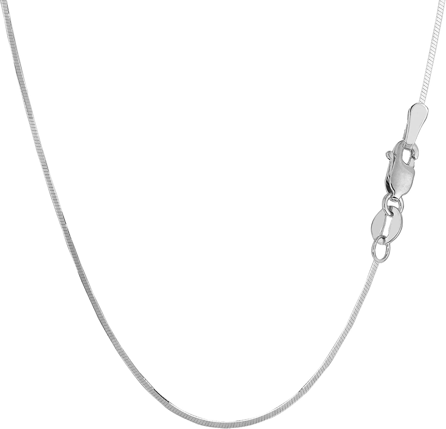 """1MM ITALIAN STERLING SILVER 925 OCTAGON MIRROR SNAKE CHAIN NECKLACE 16/"""""""
