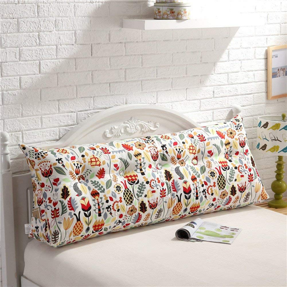 JIANHEADS ベッドサイド三角くさび読書枕、背もたれクッションマットクッション取り外し可能背もたれポジショニングサポート枕 (Color : E, サイズ : 90x20x50cm(35x8x20inch)) B07SBSG3GC
