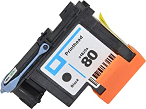 JIUPIN Compatible Hight Quality HP 80 printhead with New Updated Chips fit for HP1000 1050 1055C 1055cm Printer by VineonTec Office, 1-Pack (BK)