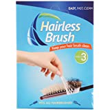 Hairless Brush, Easy Clean Hairbrush, Easy Way to Keep Brushes Clean, Nice & Hair Less - 3-Pack